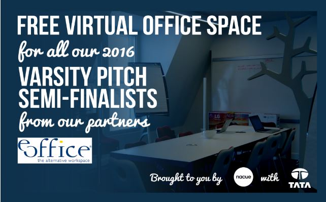 Free virtual office space for Varsity Pitch Finalists