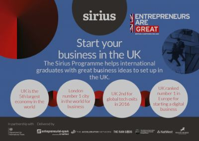 The Sirius Programme - Your opportunity to see your Company Grow!